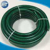 A fibra de plástico de PVC flexível Jardim reforçado trançado com a mangueira do tubo de irrigação de água