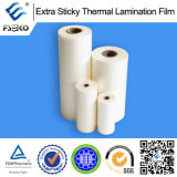 Экстренное Sticky BOPP Thermal Laminating Film для Advertizing Inject Prints (штейновое)