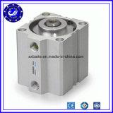 Double cylindre pneumatique compact temporaire de glissière de la série Sda63