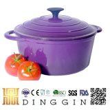 De email Met een laag bedekte Rode Kleur van de Pot van Cookware van het Gietijzer