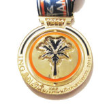 Изготовленный на заказ медаль украшения формы кокоса высокого качества