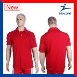 Camice di polo comode di sublimazione del tessuto degli abiti sportivi di Healong per l'uomo