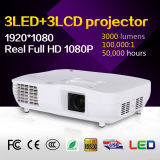 Cinema em casa 3LCD 3000 Lumens Projector LED Full HD