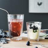 Il vetro doppio di vetro bevente della spremuta della spremuta personalizza la tazza fredda di vetro della spremuta