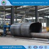Aluminium-Tanker der ISO9001/CCC Bescheinigungs-Rad-Unterseiten-7000-8000mm/Becken-halb Schlussteil für Verkauf
