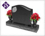 Pietre tombali/monumenti poco costosi di prezzi di fabbrica doppi con l'albero ed il vaso