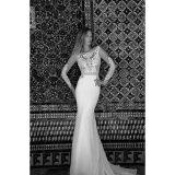 Шнурок сатинировки отбортовывая платье венчания вечера Mermaid