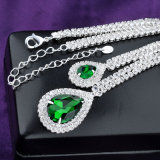 روديوم ييصفّي عرس خضراء زفافيّ [كز] تكعيبيّ زركونيوم مجوهرات مجموعة