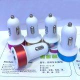 Adattatore doppio di alluminio del caricatore dell'automobile del USB per il telefono mobile