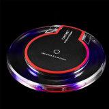 Fantasy Qi Carregador Sem Fio Crystal UFO Shape carregador com luz LED para iPhone 8 para iPhone X 10 Carregador