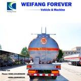 3axleアルミ合金の燃料かオイルまたはディーゼル半輸送のタンカーのトレーラー