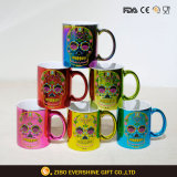 2018 Electroplate Oil Spill Skull Coffee Ceramic Mug