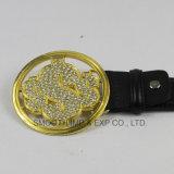 Botón del hardware de la carta de la hebilla de correa del oro del Rhinestone de los hombres de la manera