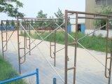 Stahlpuder beschichteter Weg durch Rahmen-Baugerüst