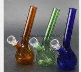 Blaues, grünes, bernsteinfarbiges Glasrohr 7 Zoll-Wasser-Rohr