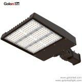 둥근 정연한 전등 기둥 조정가능한 팔 300W 200W 150W 70W 100W LED Shoebox 빛