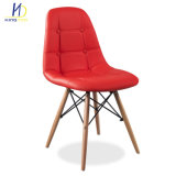 Venda por grosso de madeira moderna Pernas Cadeira de Jantar Cadeira de Plástico para restaurante