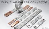 平らなブレードのコネクターのフランジ接合箇所は適用範囲が広いホースの接地鉛を編んだ