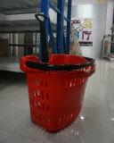 42L Hot Sale Factory Vente Direct Apple Type Trolley Basket with Four Wheel