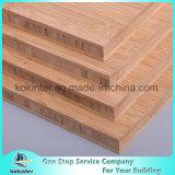 madera contrachapada de bambú horizontal carbonizada 20m m del bambú del panel de la tarjeta de bambú