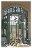 Premières portes faites sur commande modernes carrées en verre de fer travaillé de garantie