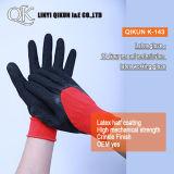 Gants fonctionnants de sûreté de latex en nylon de pli de polyester des mesures K-143 13
