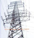 Torre de acero tubular certificada ISO9001 de la transmisión de potencia de la fábrica