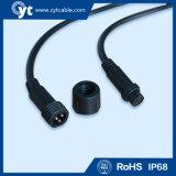 3pin Waterproof o cabo do diodo emissor de luz com o conetor masculino e fêmea