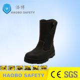 Calzature calde di sicurezza del cuoio genuino di alta qualità