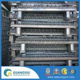 Armazenamento de depósito de malha de gaiola dobrável de metal vazios