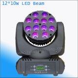 12X10W RGBW LED bewegliches Hauptträger DJ-Disco-Partei-Licht