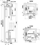 Лифт 450kg подъема пассажира FUJI Мицубиси Schindler с комнатой машины