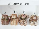"""6 """"H Decoração de Natal Animais de estimação, gato e cão-2 Asst-Decoração de Natal"""