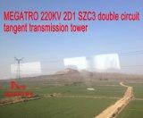 Башня передачи тангенса цепи Megatro 220kv 2D1 Szc3 двойная