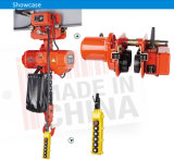 3ton Double Speed Electric Chain Hoist con Electric Trolley per Mobile Crane