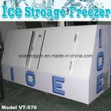 O congelador de inclinação do armazenamento de gelo prende 190 oito libras. Sacos do gelo