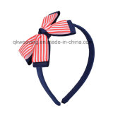 Grosgrain-Stirnband-elastisches Farbband Hairbands der Kinder
