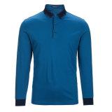Heißer Verkaufs-langer Hülsen-Geschäfts-Polo-Hemd-Fabrik-Großverkauf der Männer