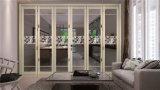 Portello di lusso di alluminio bianco del portello di piegatura per la Camera