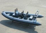 Rippen-Bewegungsboot China-Aqualand 21feet 6.4m/Tauchen/Fischen/Rettung/Patrouille/steifes aufblasbares Fischerboot (RIB640T)