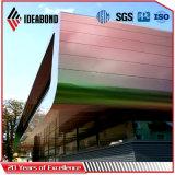 Hoja compuesta de aluminio revestida del panel del PE PVDF de los espectros