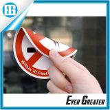 Personalizzato intorno a stampa dell'autoadesivo del PVC/autoadesivo a doppia faccia della finestra