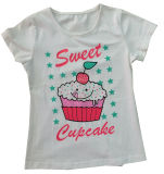 Moda roupas de bebê Flower Girl em crianças T-shirt infantil com Printingsgt-079