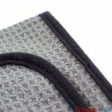 Tissu de nettoyage d'armure de nid d'abeilles de gaufre de Microfiber