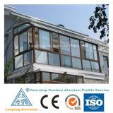 Perfiles de aluminio para puertas y ventanas de pared de vidrio