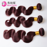 柔らかく、健全な100%緩い波の毛のWeft赤99j Remyの毛のヨーロッパのバージンの人間の毛髪