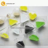 Grand carré en verre borosilicaté artisanal sablier