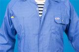 65% Polyester 35% Coton Long Sleeve Safety Coverall Vêtements de travail avec réfléchissant (BLY1023)