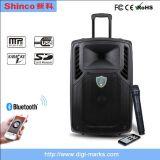 Shinco 15 Zoll bewegliche drahtlose Bluetooth aktive Laufkatze-Lautsprecher-