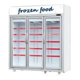 Коммерческие 3 стойку двери морозильной камере
